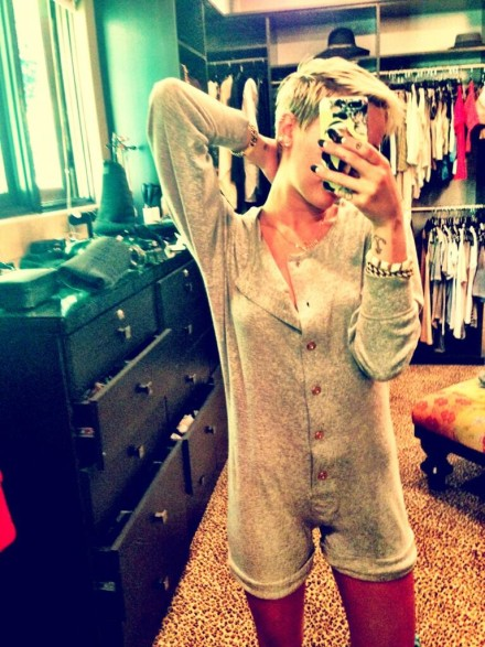 Miley Cyrus loves her Chanel onesie