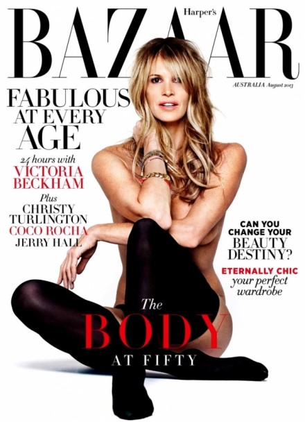 Elle Macpherson strikes her Playboy pose once again