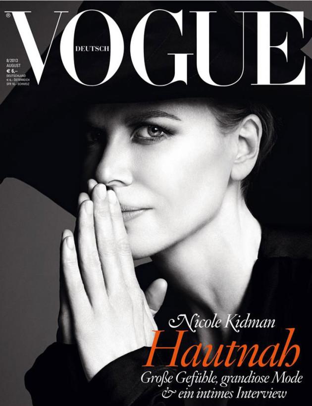 Nicole Kidman does Black Swan on German Vogue, twice