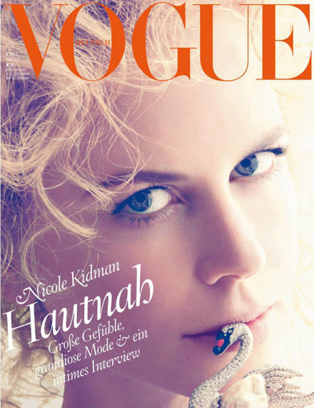 Nicole Kidman does Black Swan on German Vogue, twice