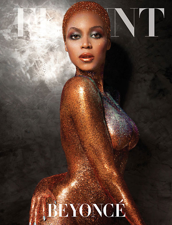 Beyonce nude in glitter for Flaunt Magazine