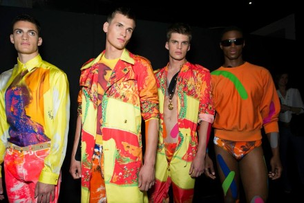 Eye Candy: Versace Men's Spring Summer 2014 Backstage