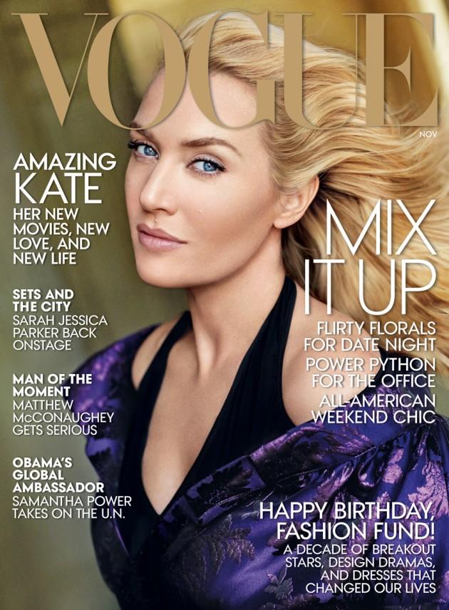 Kate Winslet looks fierce on Vogue
