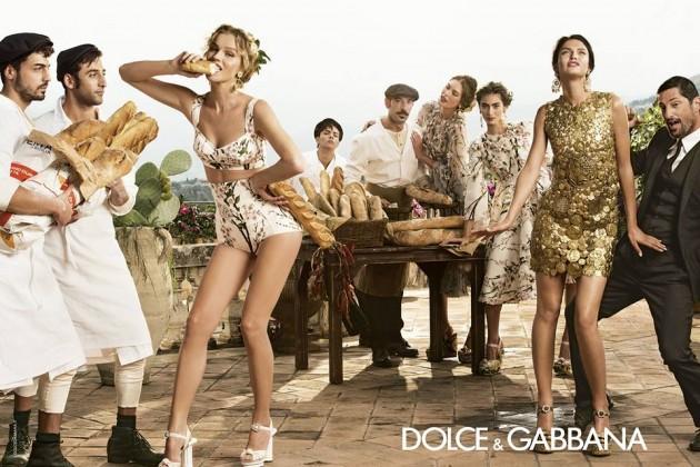 Tony Ward and Eva Herzigova star in D&G's S/S 2014 Campaign