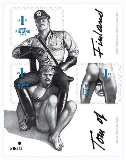 Finland presents 'gay' stamp